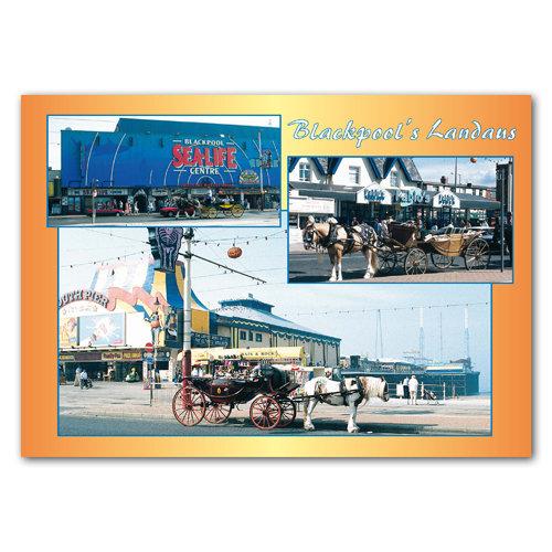 Blackpool Landaus - Sold in pack (100 postcards)