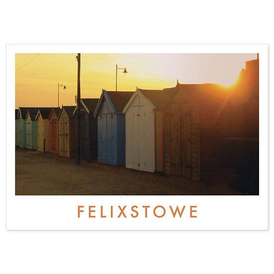 Felixstowe Beach Huts - Sold in pack (100 postcards)