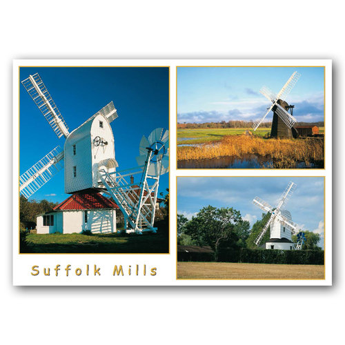 Suffolk Mills - Sold in pack (100 postcards)