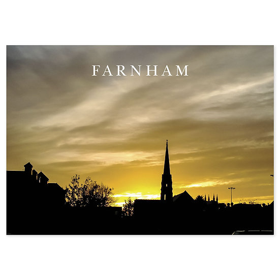 Farnham Skyline - Sold in pack (100 postcards)