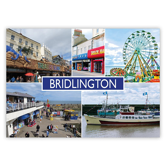 Bridlington 5 View Comp - Sold in pack (100 postcards)