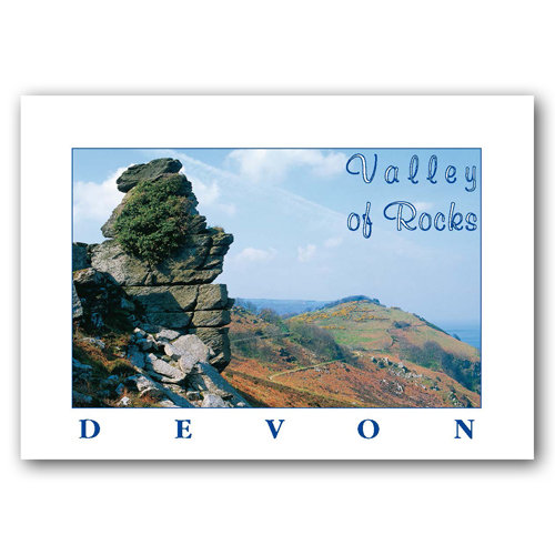 Lynton Valley of Rocks - Sold in pack (100 postcards)