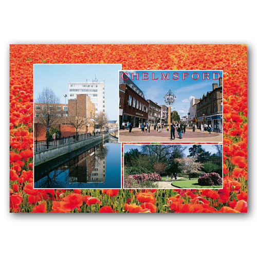 Chelmsford 3 View Comp - Sold in pack (100 postcards)