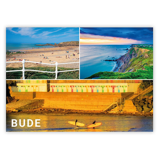 Bude 3 compsite (surfs at bottom) - Sold in pack (100 postcards)