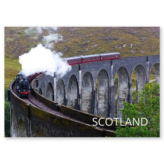 Glennfinnan Viaduct Hogwarts Express Steam Train - Sold in pack (100 postcards)