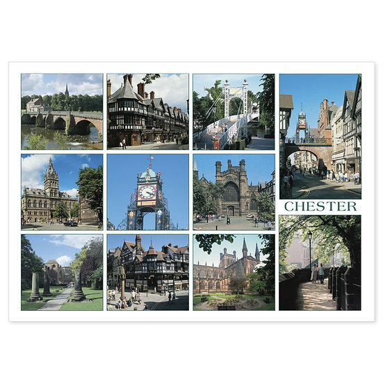 Chester 11 View Comp - Sold in pack (100 postcards)