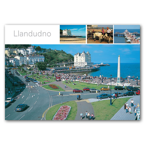 Llandudno 4 View Comp - Sold in pack (100 postcards)