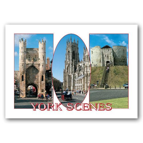 York Scenes - Sold in pack (100 postcards)