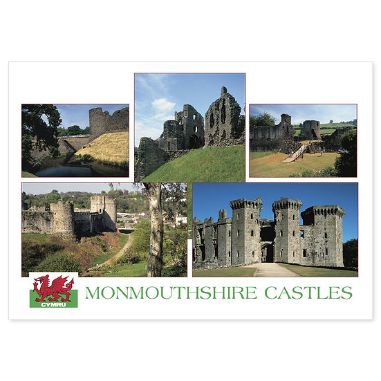 Monmouthshire Castles - Sold in pack (100 postcards)