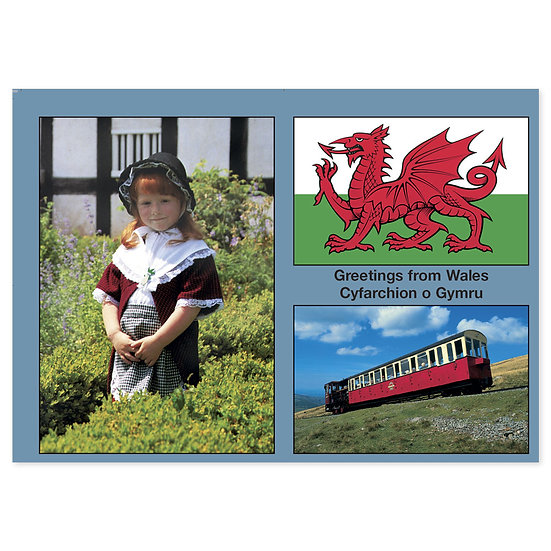 Wales Comp - Sold in pack (100 postcards)