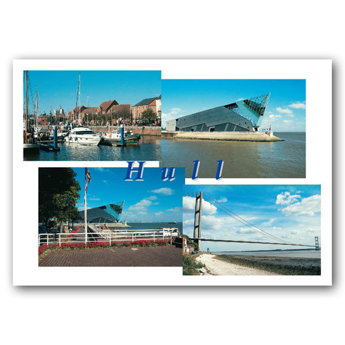 Hull 4 View Comp - Sold in pack (100 postcards)