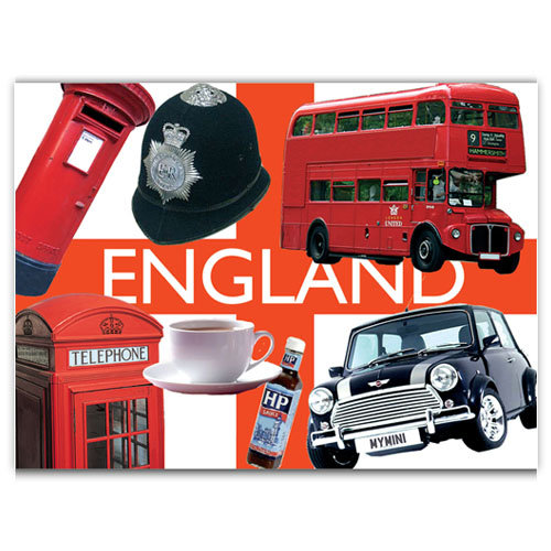 British England Collage - Sold in pack (100 postcards)