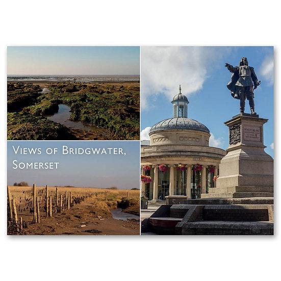 Bridgewater, Corn Exchange & Blake Statue - Sold in pack (100 postcards)