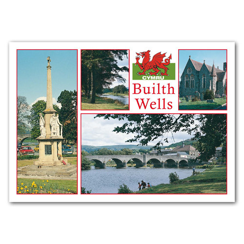 Builth Wells - Sold in pack (100 postcards)