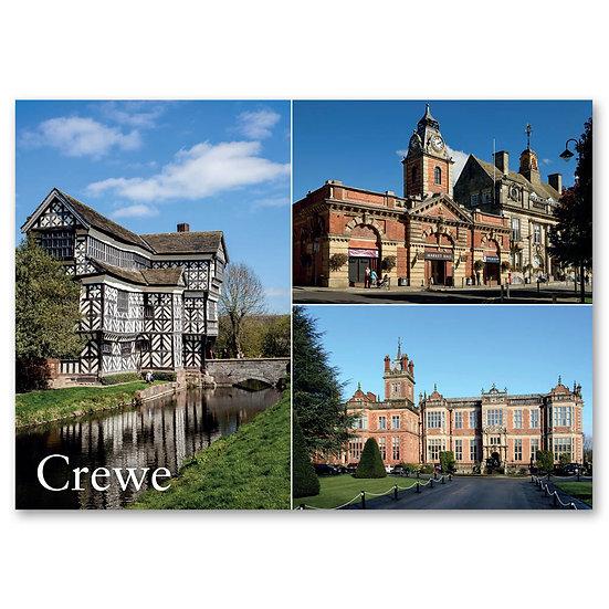 Crewe, Little Moreton Hall, Market Hall Building  - Sold in pack (100 postcards)