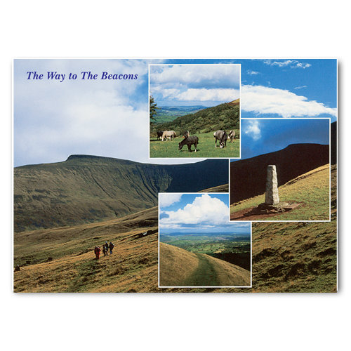 Brecon Powys The Way to - Sold in pack (100 postcards)
