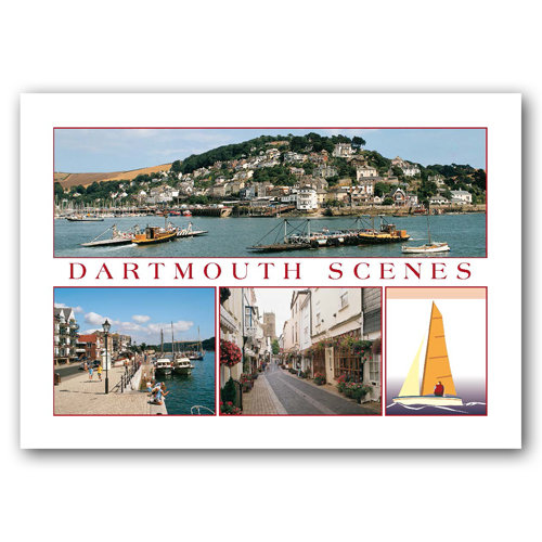 Dartmouth Scenes - Sold in pack (100 postcards)