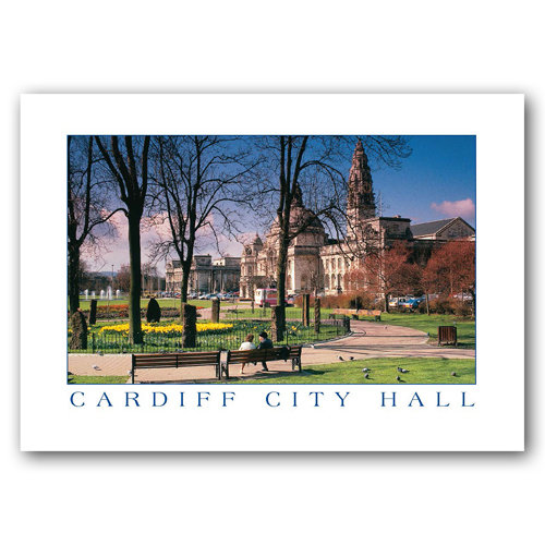 Cardiff City Hall & Law Courts - Sold in pack (100 postcards)