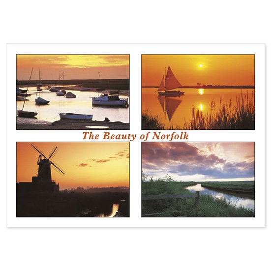 Norfolk The Beauty Of Comp - Sold in pack (100 postcards)