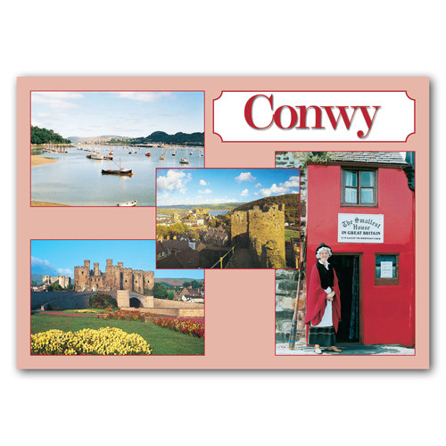 Conwy Around 4 View Comp - Sold in pack (100 postcards)