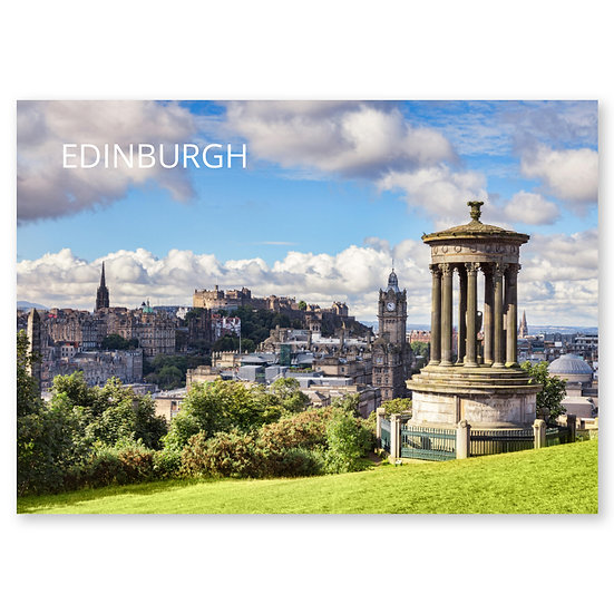 Edinburgh from Calton Hill in Autumn - Sold in pack (100 postcards)