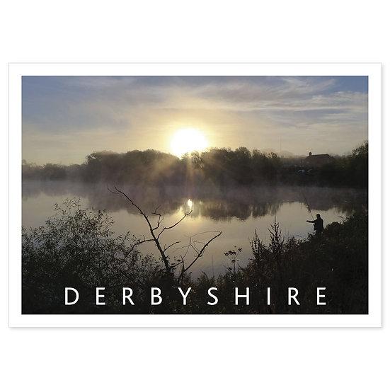 Derbyshire Burrerley Reservoir - Sold in pack (100 postcards)