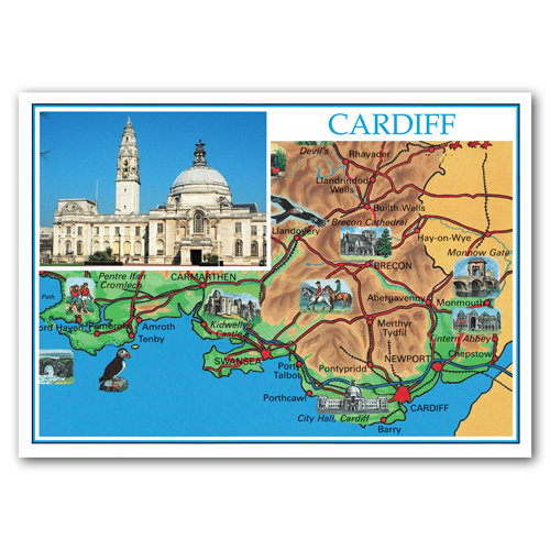 Cardiff - Sold in pack (100 postcards)