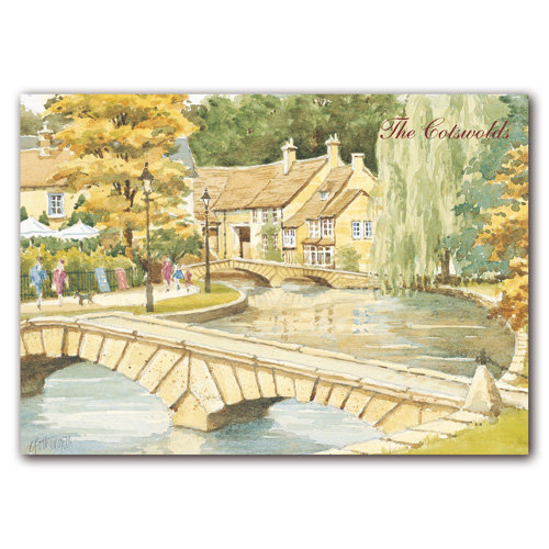 Bourton on the Water Watercolour - Sold in pack (100 postcards)