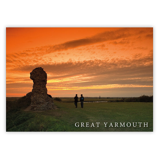 Great Yarmouth, Burgh Castle - Sold in pack (100 postcards)