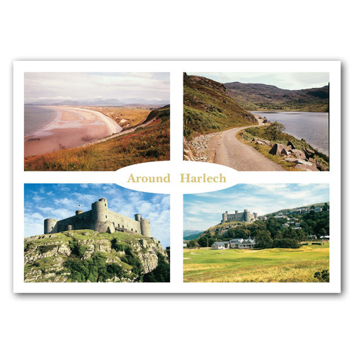 Harlech Around - Sold in pack (100 postcards)
