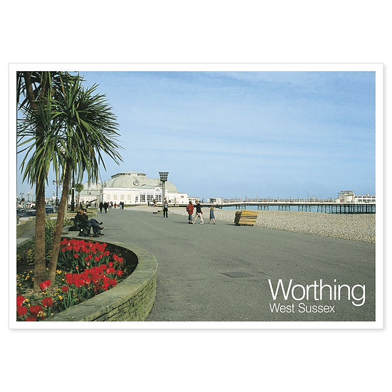 Worthing Seafront - Sold in pack (100 postcards)