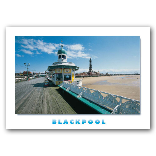 Blackpool North Pier & Tower - Sold in pack (100 postcards)