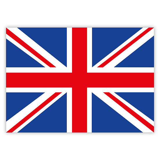 British Union Jack - Sold in pack (100 postcards)