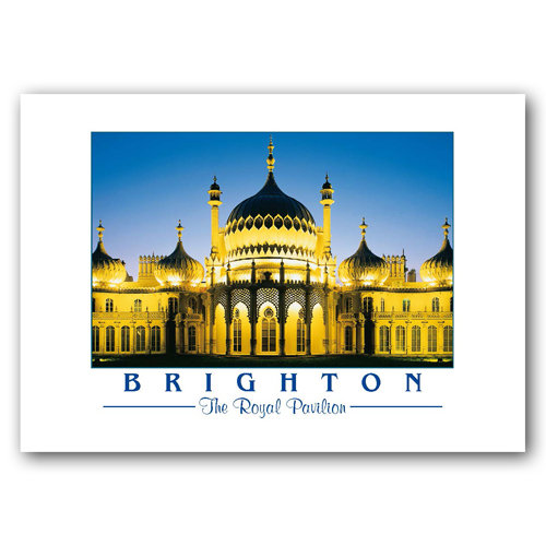 Brighton The Royal Pavillion - Sold in pack (100 postcards)