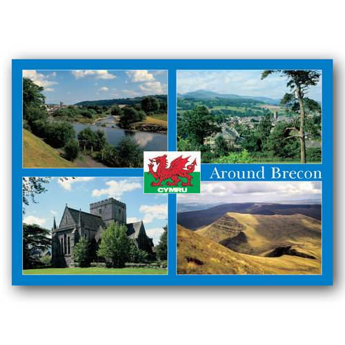 Brecon Around - Sold in pack (100 postcards)