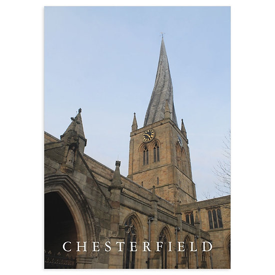 Chesterfield Twisted Spire Parish Church - Sold in pack (100 postcards)