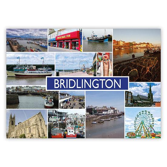 Bridlington Multi Comp - Sold in pack (100 postcards)