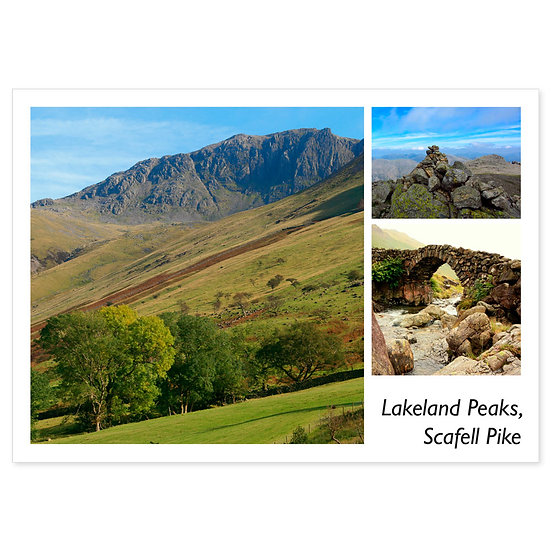 Lakeland Peaks, Scafell Pike - Sold in pack (100 postcards)