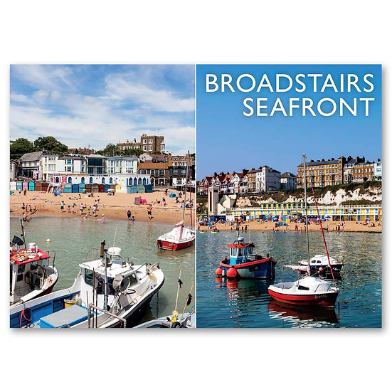 Broadstairs, Seafront 2 view composite - Sold in pack (100 postcards)