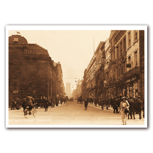 Liverpool Sepia Bold Street - Sold in pack (100 postcards)