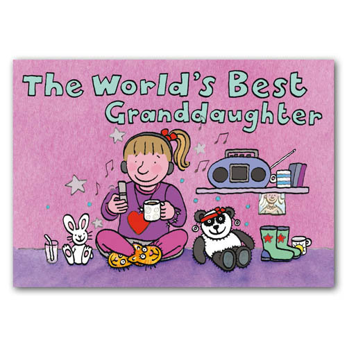 World's Best Grandaughter - Sold in pack (100 postcards)