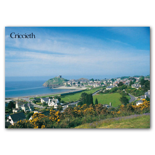 Criccieth Town - Sold in pack (100 postcards)