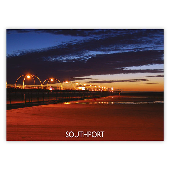 Southport Pier Night - Sold in pack (100 postcards)