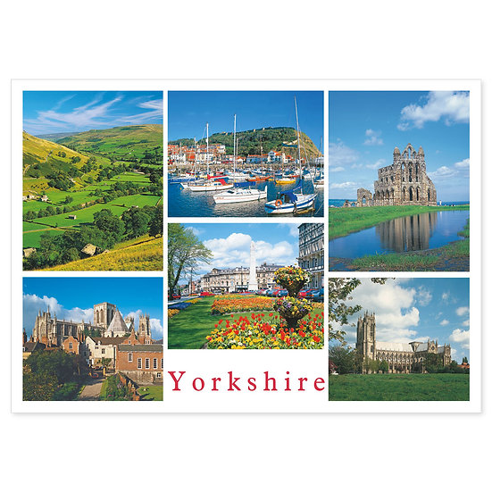 Yorkshire 6 View Comp - Sold in pack (100 postcards)