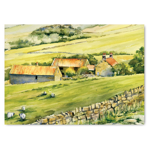 Farndale Watercolour by Catherine Bartle - Sold in pack (100 postcards)