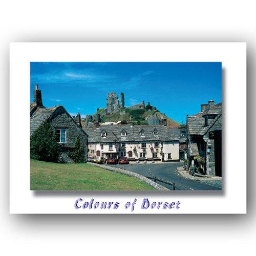 Dorset Just Corfe Castle - Sold in pack (100 postcards)