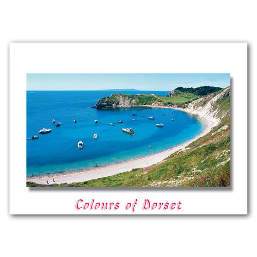 Dorset Just Lulworth Cove - Sold in pack (100 postcards)