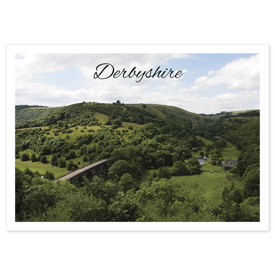 Derbyshire Monsal Head - Sold in pack (100 postcards)