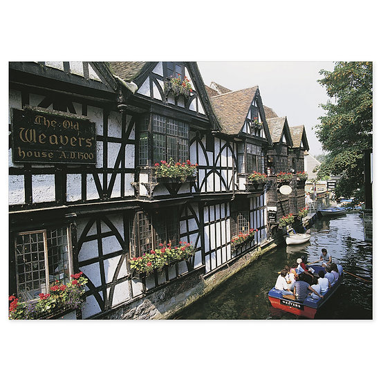 Canterbury Weavers House - Sold in pack (100 postcards)