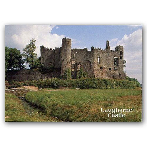 Laugharne Castle - Sold in pack (100 postcards)